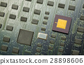 Electronic board with chip and cpu processor 28898606