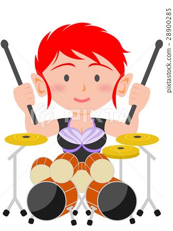搖滾樂 鼓 器具 28900285