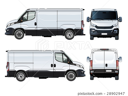 Vector van template isolated on white 28902947