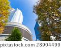 辦公區和街道樹木的高層建築 28904499