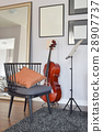 musical instrument with wooden chair 28907737