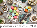 Colored Easter eggs table decoration 28907934