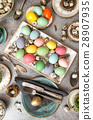 Colored Easter eggs Festive table decoration 28907935