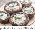 Baked mushrooms stuffed with feta 28909563