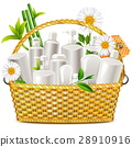 Vector Basket with Natural Cosmetic 28910916