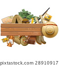 Vector Board with Safari Hat 28910917