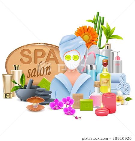 Vector Female SPA Salon 28910920