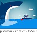 Businessman escape on the shark 28915543