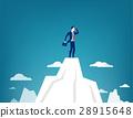 businessman, mountain, standing 28915648