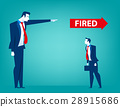 Manager pointing fired at businessman 28915686