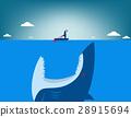 Risk. Shark attacking businessman 28915694