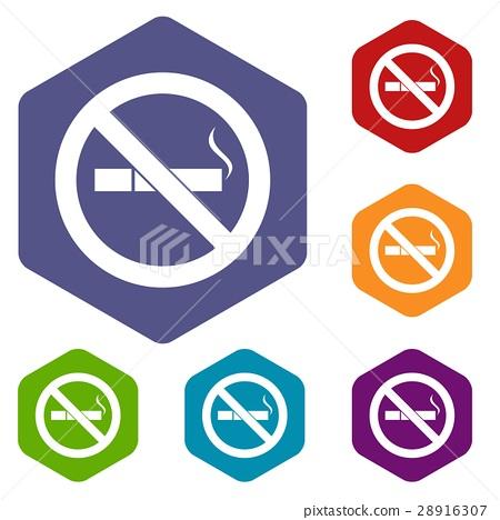 No smoking sign icons set 28916307