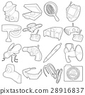 Spy and security icons set, outline style 28916837