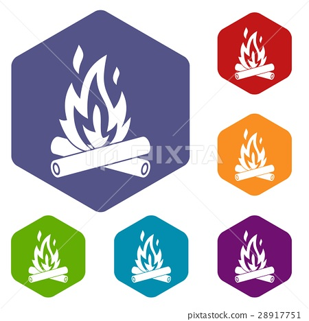 Campfire icons set 28917751