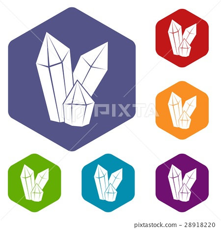 Diamonds icons set 28918220