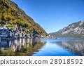 Hallstatt village in Alps at cloudy day, Austria 28918592