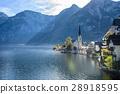 Hallstatt village in Alps at cloudy day, Austria 28918595