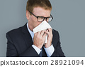 Business Man Sick Cry Tissue Paper 28921094