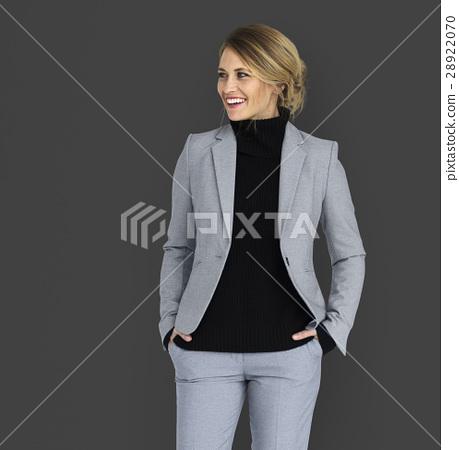 Caucasian Business Woman Smiling 28922070