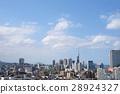 福岡縣到處都是美麗的秋天天空藍天 28924327