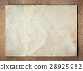 old paper texture on cork board background 28925982