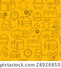 line style icons seamless pattern, Industri 28926850