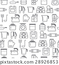 line style icons seamless pattern, Kitchen 28926853