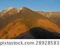 Snow mountain winter scene 28928583