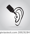 Ear drops icon, medical sign icon 28929284