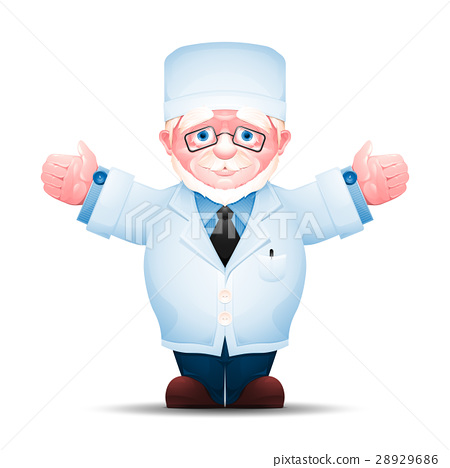 Elderly doctor arms outstretched 28929686