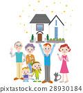 三代家庭和房子 28930184