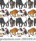 Seamless background design with wild animals 28930914