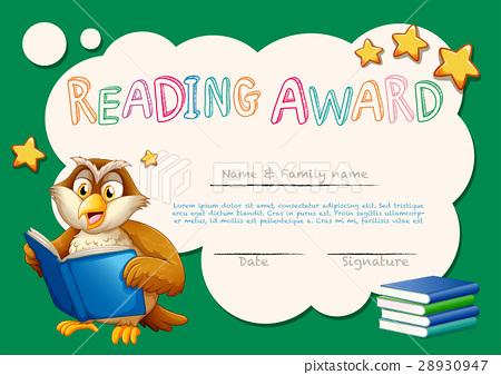 Certificate Template For Reading Award Stock Illustration