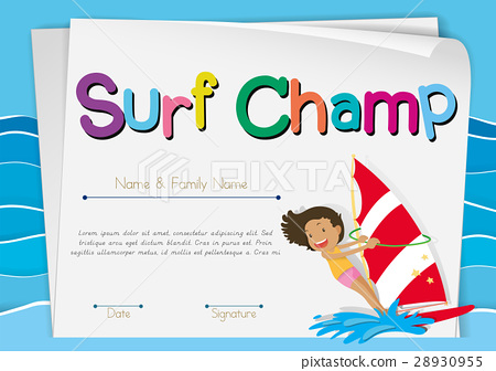 Certificate template for surf champ 28930955