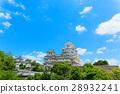 himeji castle, blue sky, sky 28932241