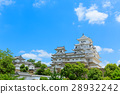 himeji castle, blue sky, castle 28932242