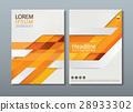 Orange annual report brochure flyer design. 28933302