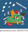 Baseball Game Isometric Composition 28933739