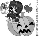 Halloween และ Jack O Lantern และ Snow White 28934051