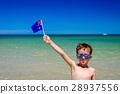 Boy with Australian flag  on Australia day 28937556