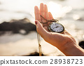 Woman holding Vintage pocket watch 28938723