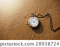 Vintage pocket watch on golden sand beach 28938724