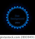 Background of gas flame on black, vector EPS10 28939491