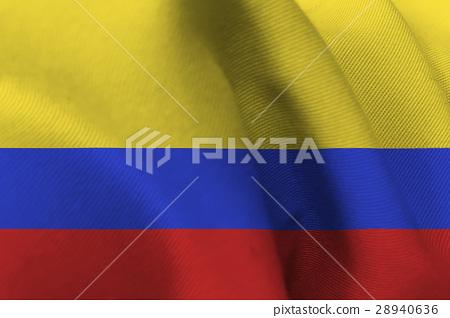 Columbia Nation Flag 3d Illustration Symbol Stock Illustration