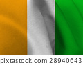 Cote d'ivoire flag 3D illustration symbol 28940643