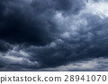 Dark clouds before a thunder-storm 28941070