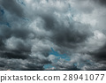 Dark clouds before a thunder-storm 28941077