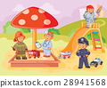 illustration small children different professions 28941568