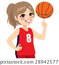 Girl Spinning Basketball 28942577