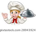 chef woman cartoon 28943924